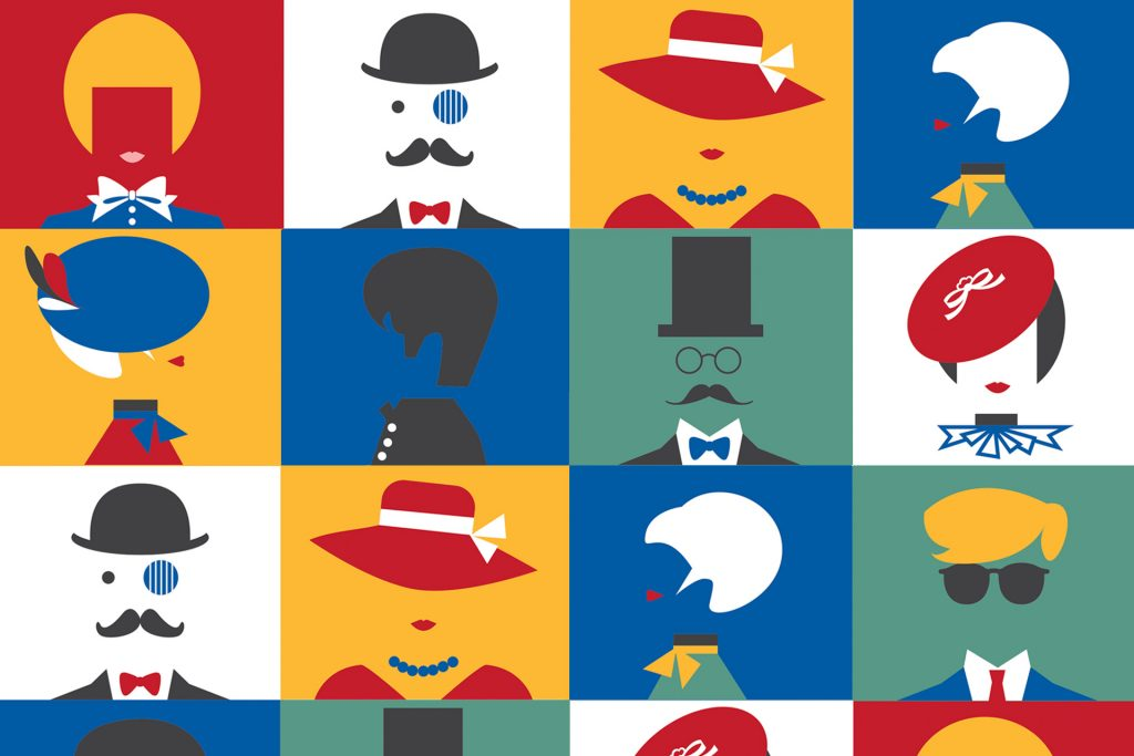 Whimsical British portraits for Joomla Day UK / Pic Courtesy : Until Sunday