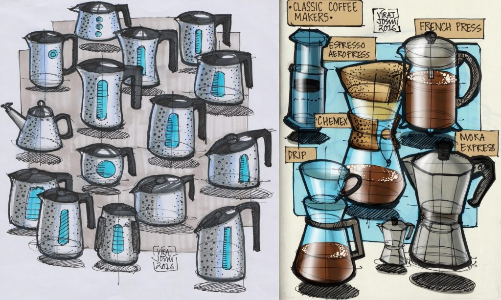 My love for kitchen products shows through my sketchbook