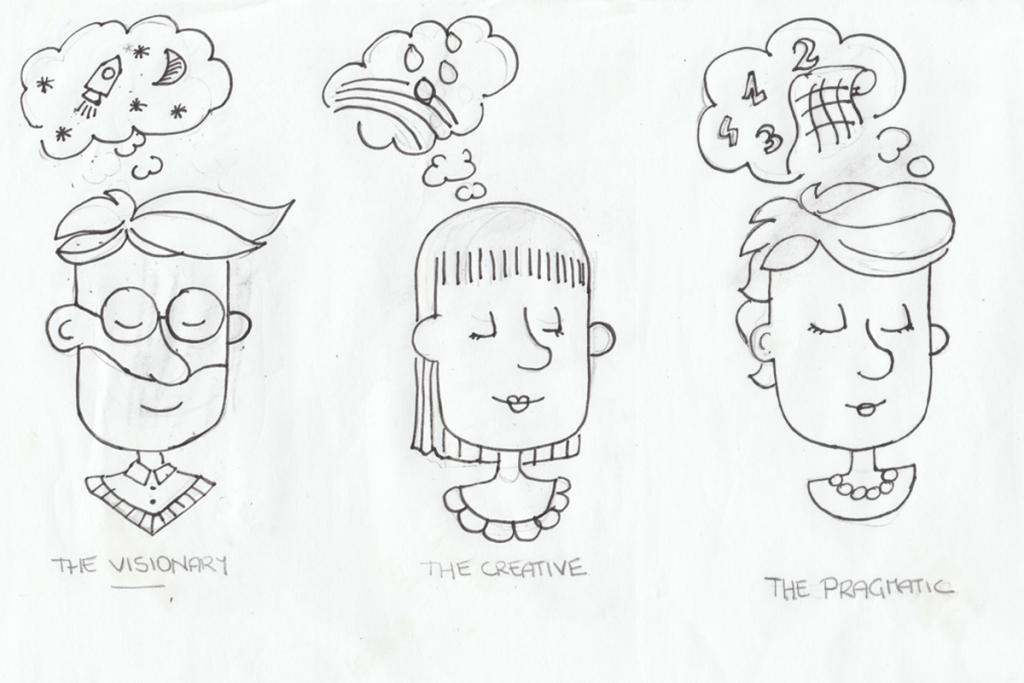 Sketches for Pixpro Personalities / Pic Courtesy : Until Sunday