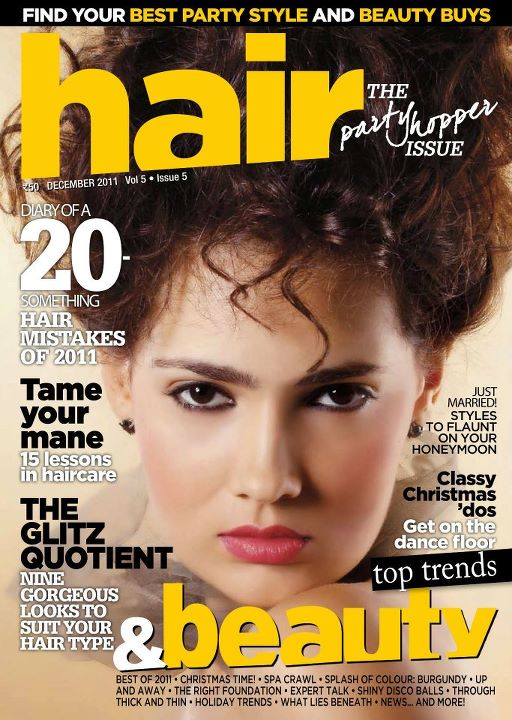 Hair First Cover / Pic Courtesy : Shweta Walavalkar