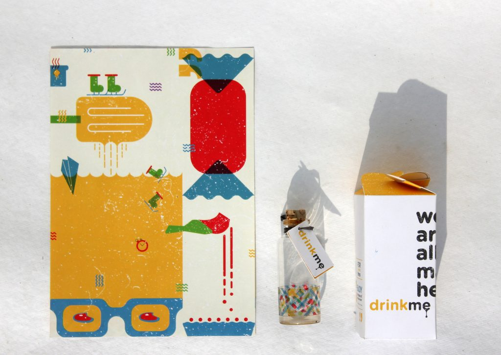 Illustration for Drink-Me-Eat-Me-Packaging / Pic Courtesy : Bansri Thakkar