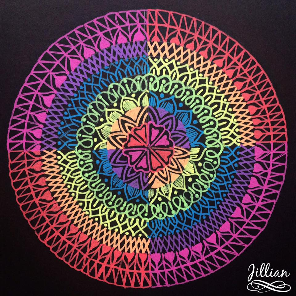 Rainbow Mandala / Pic Courtesy : Jillian Thottan