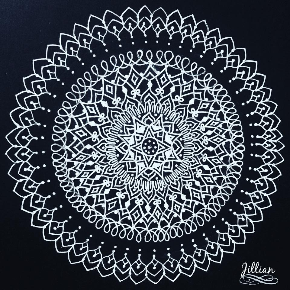 White Mandala / Pic Courtesy : Jillian Thottan